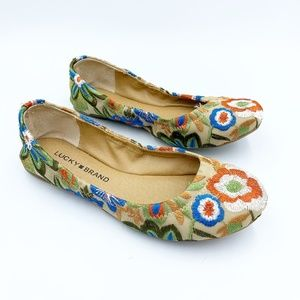 Lucky Brand Emmie Embroidered Floral Ballet Flats